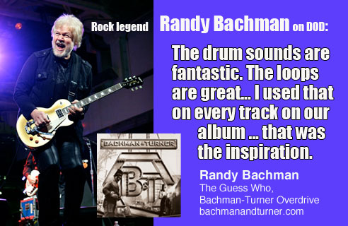 Randy Bachman - Drums On Demand - Recorded at Rosewood Recording Studio