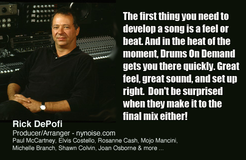Rick DePofi - Drums On Demand - Recorded at Rosewood Recording Studio