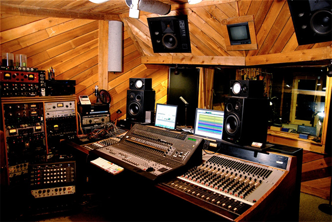 Control Room at Rosewood Recording in Provo