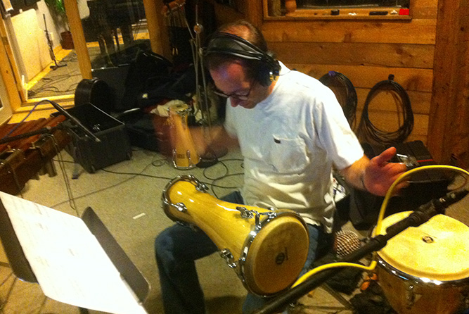 Djembe Drum Recording Session Rosewood Recording Studio