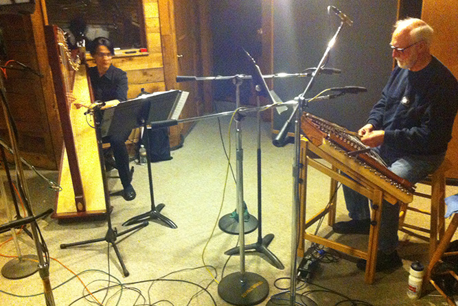 Harp Session at Rosewood Recording Studio